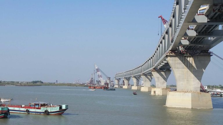 Foundation Capital | Recently constructed railway viaduct in Bangladesh over the Padma River