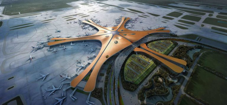Foundation Capital | Aerial visualisation of Beijing Daxing International Airport