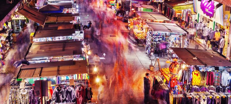 Foundation Capital | Night time street market bazaar in urban China