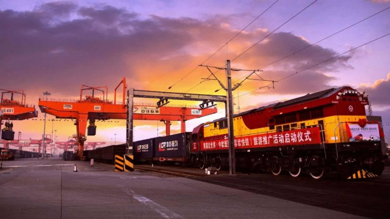 Foundation Capital | Chinese train in sea port