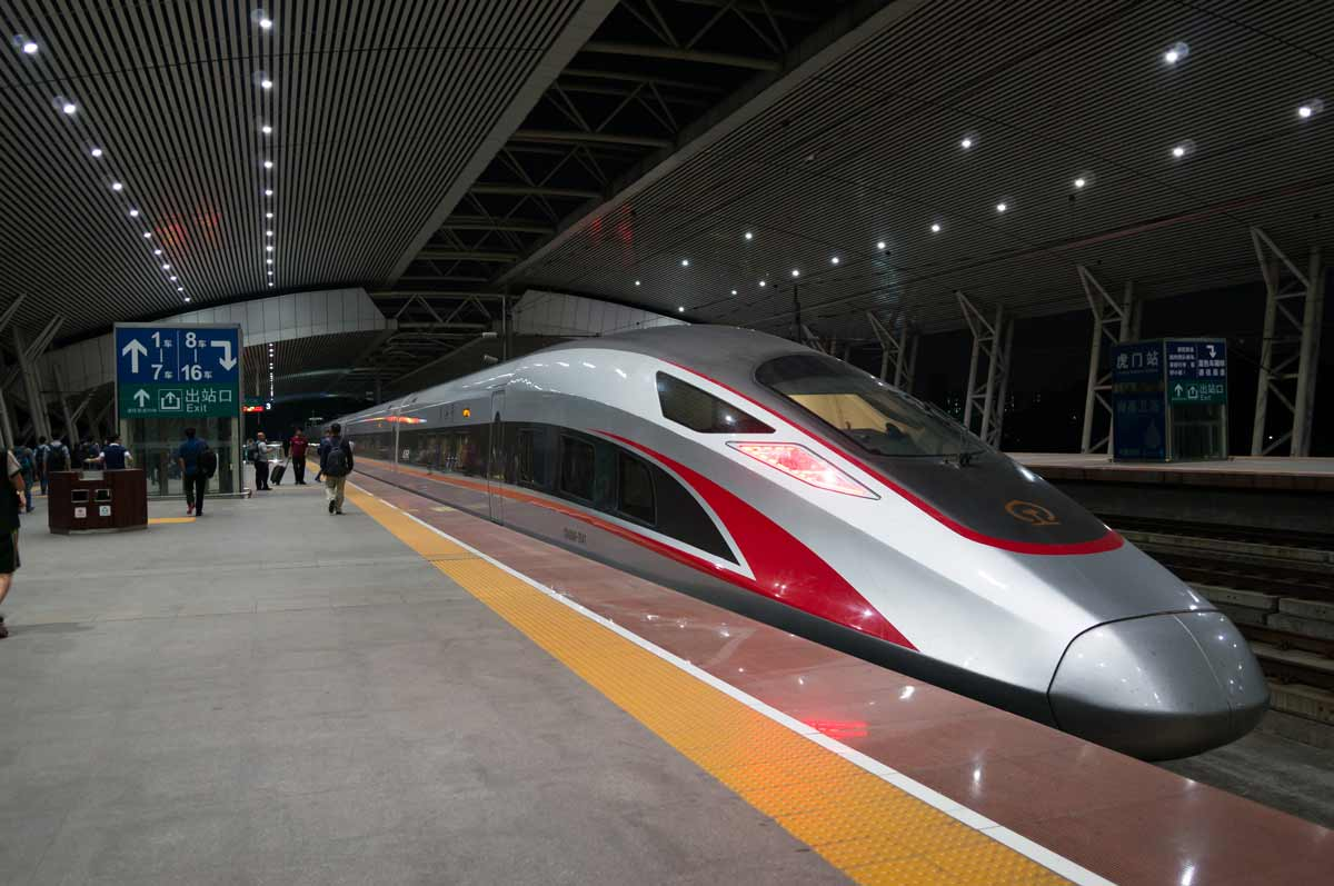 Foundation Capital | High speed train docked in station