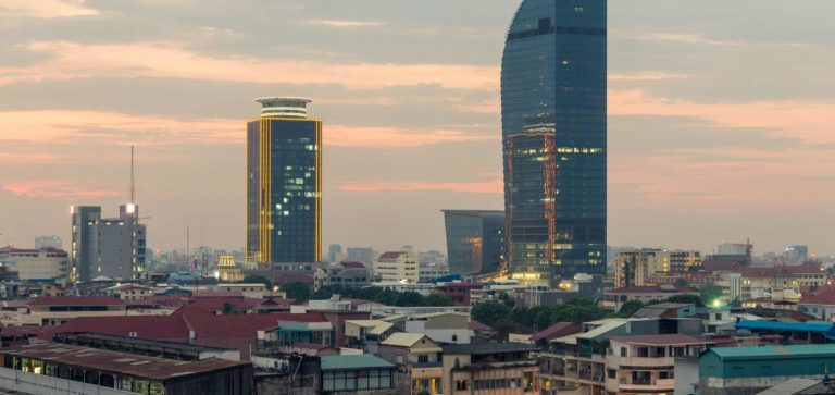 Foundation Capital | City skyline of Phnom Penh, Cambodia