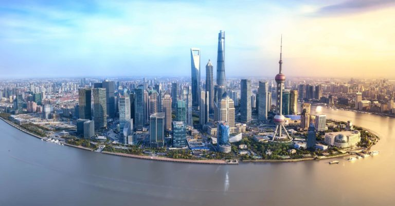 Foundation Capital | Aerial view of Shanghai's skyscrapers and buildings