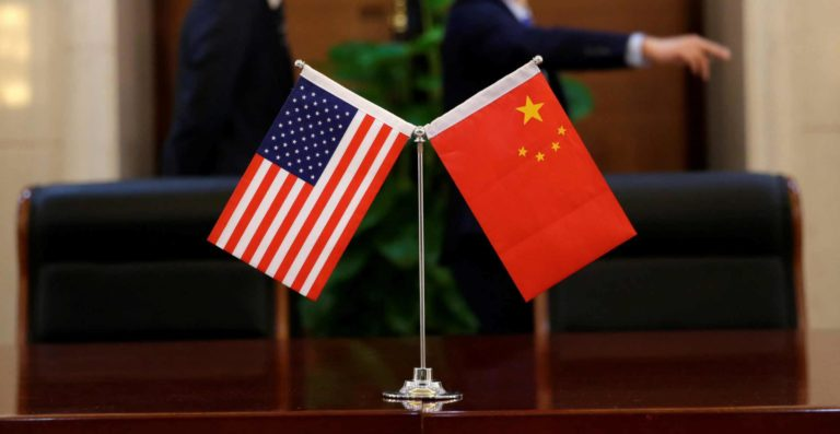 Foundation Capital | US and China flags on a desktop