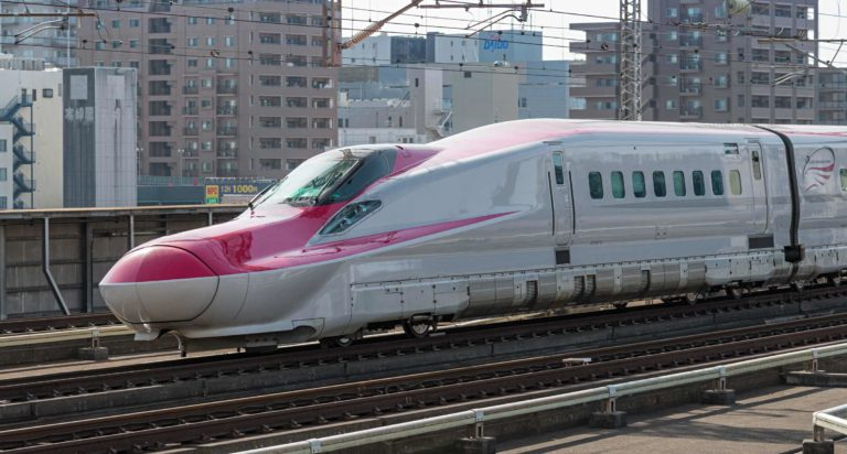 Foundation Capital | High speed maglev train travelling through Tokyo, Japan